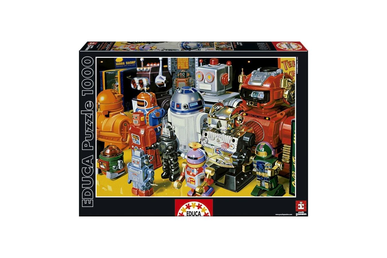 Puzzle Educa - Robots, 1000 piese (15979) imagine