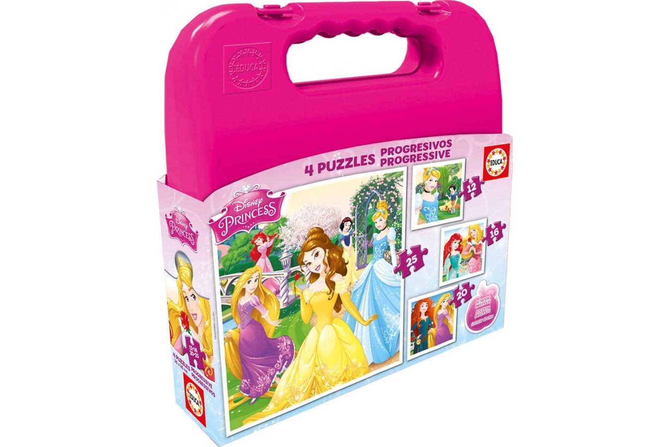 Puzzle Educa - Disney Princess, 12/16/20/25 piese (16508) imagine