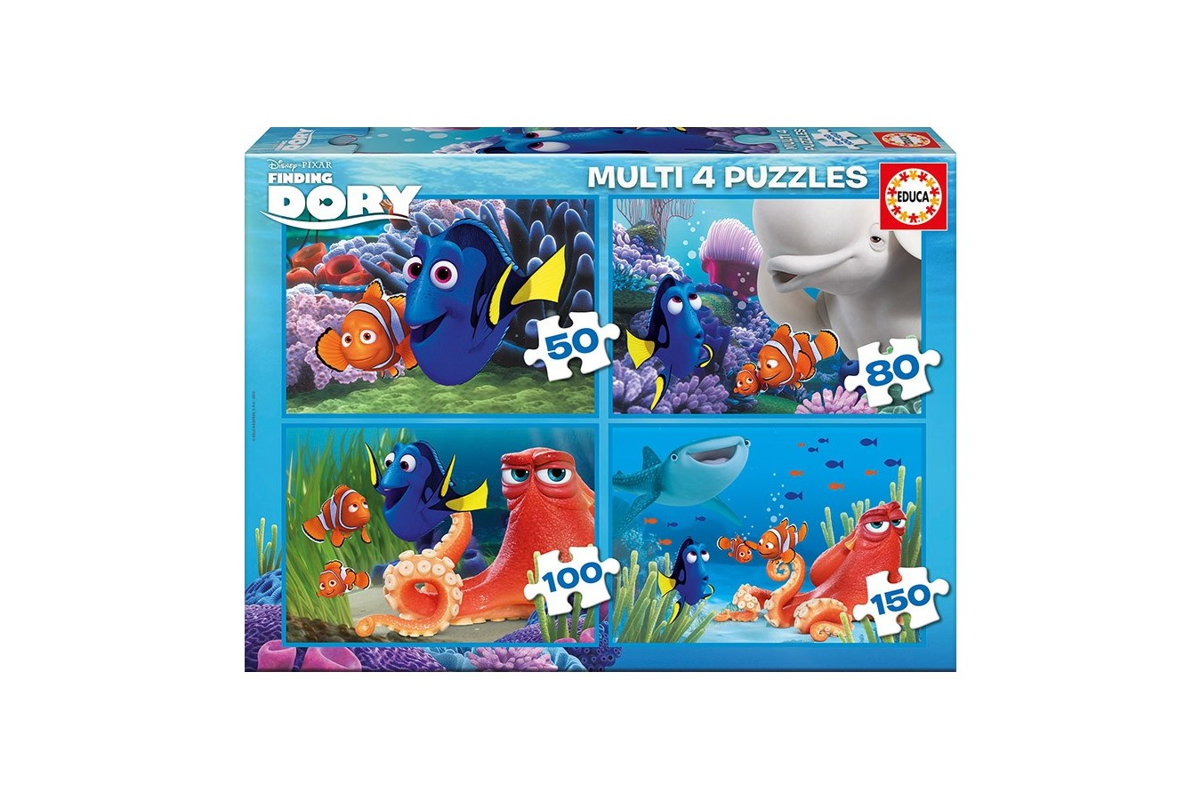 Puzzle Educa - Finding Dory, 50/80/100/150 piese (16700) imagine