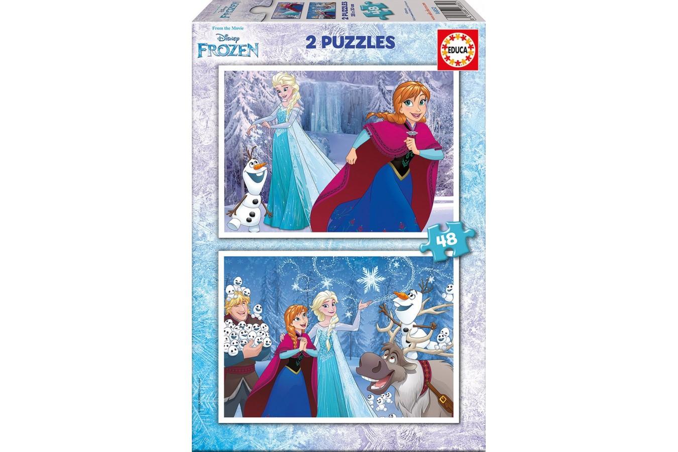 Puzzle Educa - Frozen, 2x48 piese (16852)