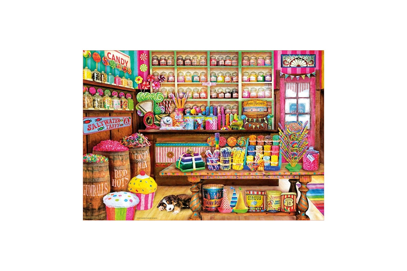Puzzle Educa - The Candy Shop, 1000 piese, include lipici puzzle (17104) imagine
