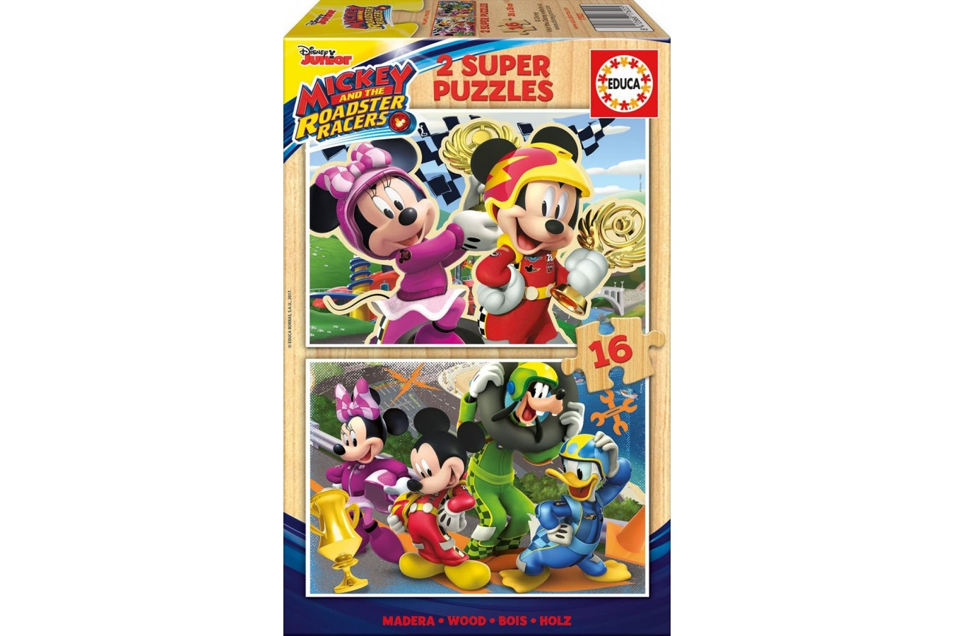 Puzzle Educa - Mickey and the Roadster Racers, 2x16 piese (17622) imagine