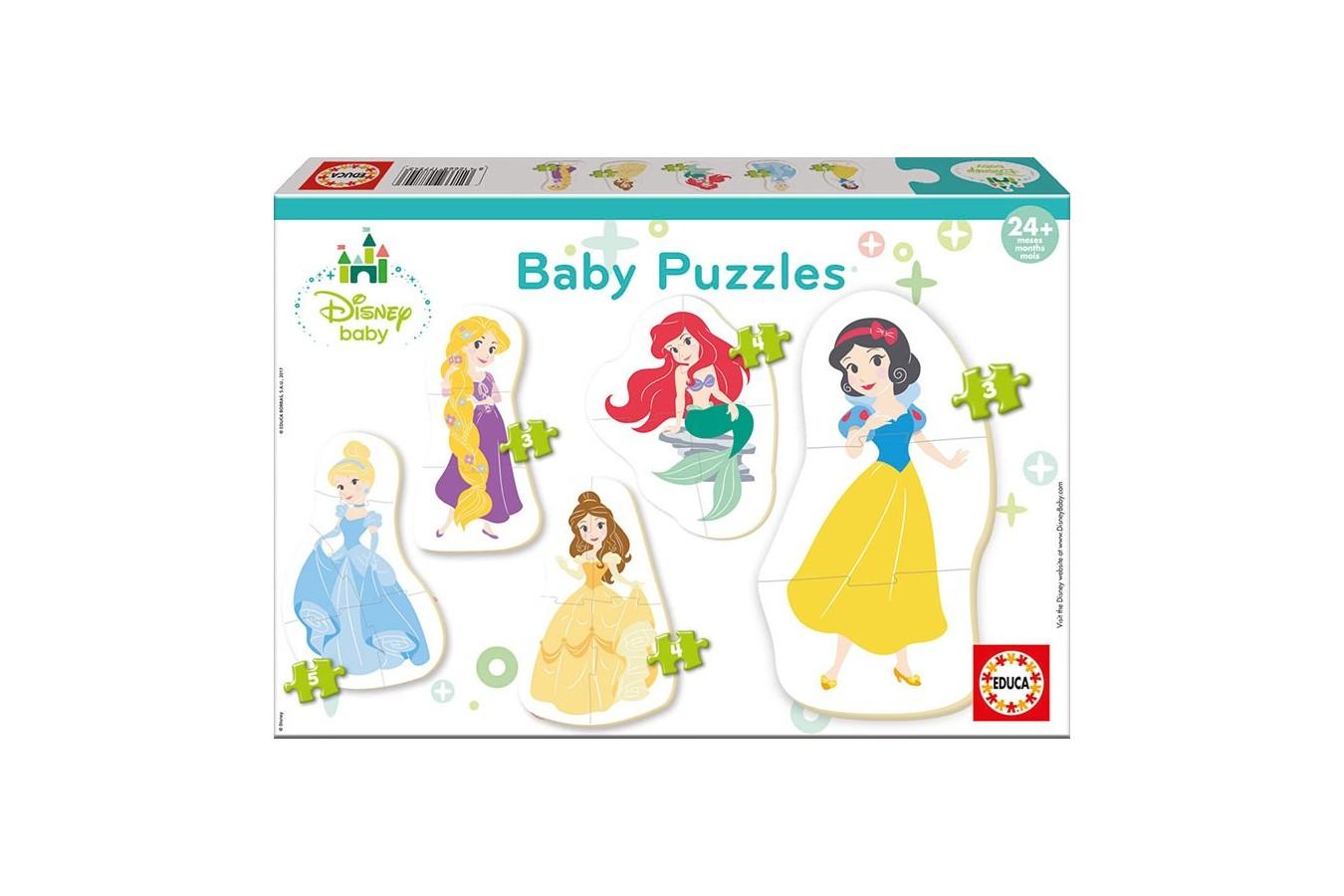 Puzzle Educa - Disney Princess, 3/3/4/4/5 piese (17754) imagine