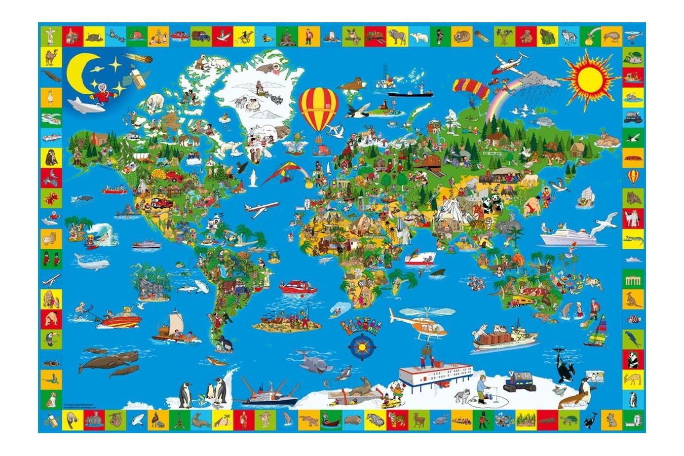 Puzzle Schmidt - Lumea minunata, 200 piese (56118) imagine
