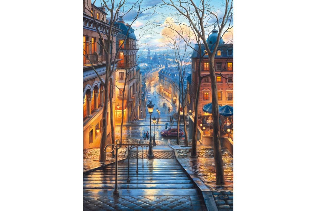 Puzzle Schmidt - Evgeny Lushpin: Dimineata de primavara in Montmartre, 1.000 piese (59560) imagine