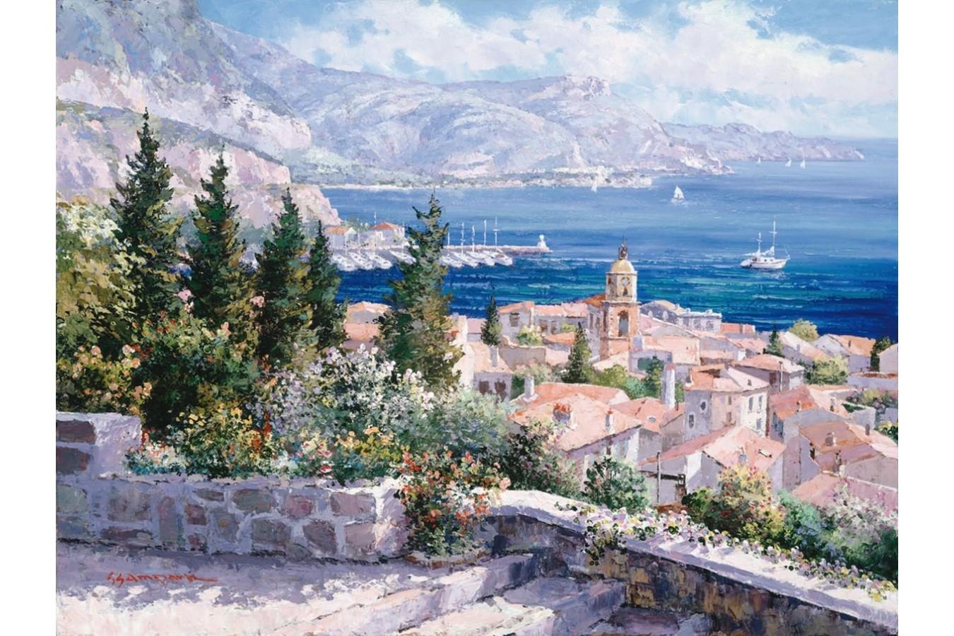 Puzzle Schmidt - Sam Park: Saint Tropez, 1.000 piese (59272) imagine