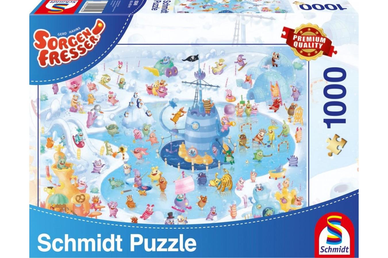 Puzzle Schmidt - Distractie de iarna, 1.000 piese (59371) imagine