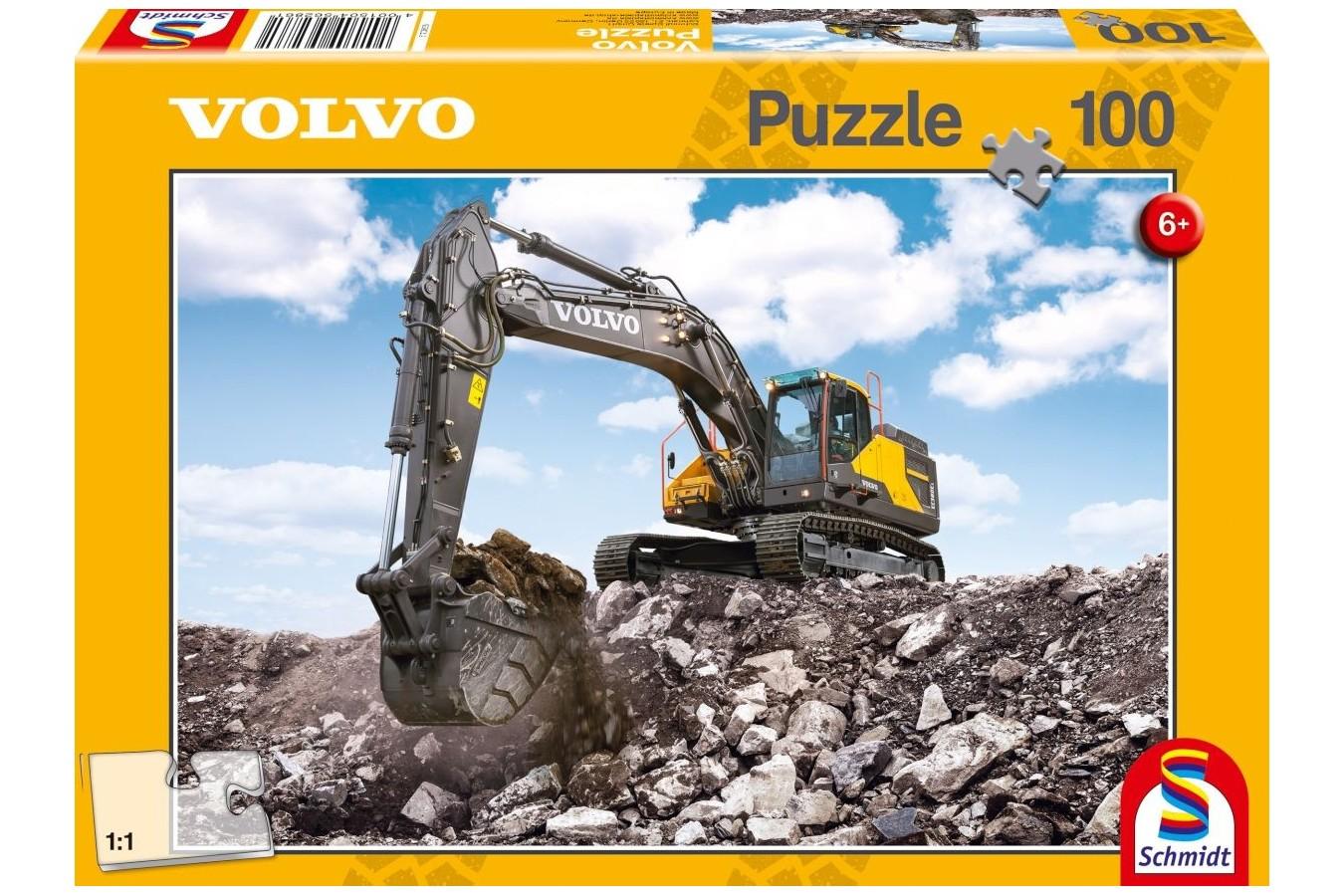 Puzzle Schmidt - Volvo EC380E, 100 piese (56286) imagine