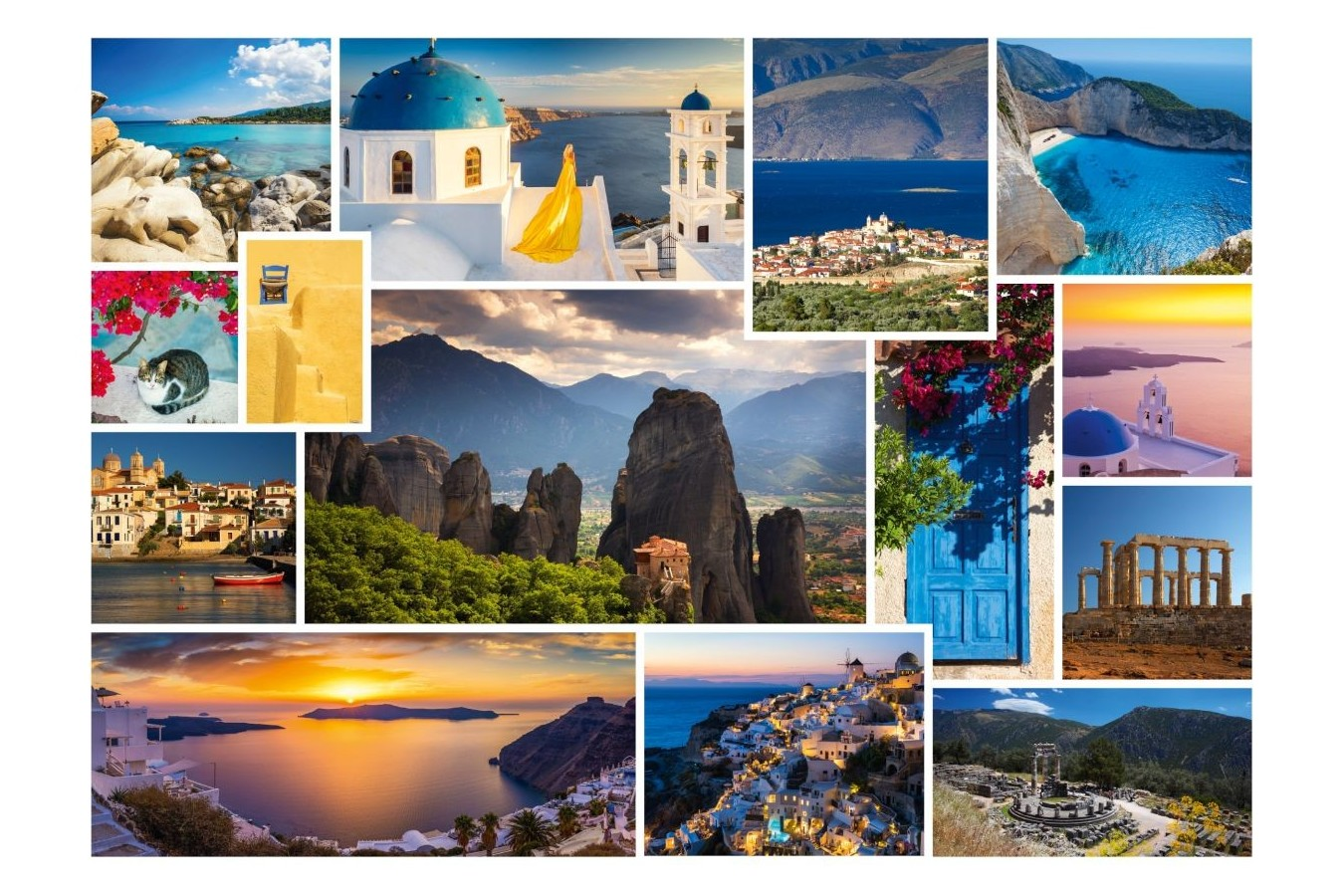 Puzzle Schmidt - Take A Trip To... Greece, 1.000 piese (58338) imagine