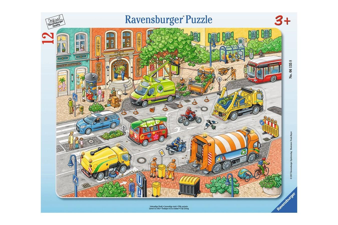 Puzzle Ravensburger - Oras Plin De Viata, 12 piese (06135) imagine
