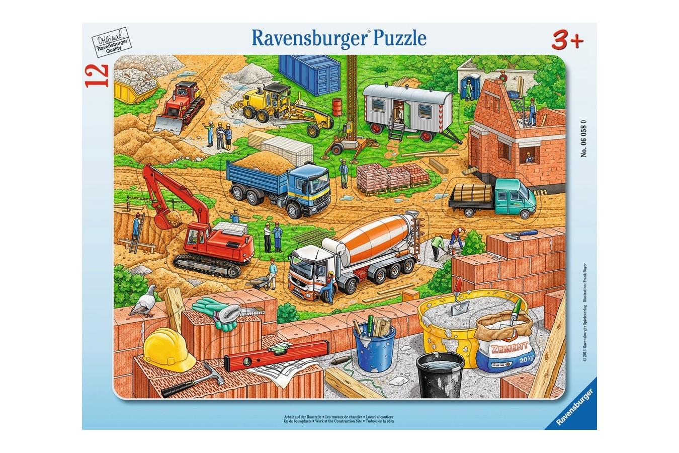 Puzzle Ravensburger - Santier, 12 piese (06058) imagine