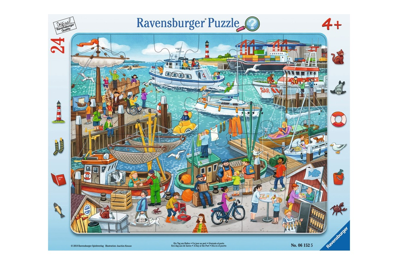 Puzzle Ravensburger - O Zi In Port, 24 piese (06152) imagine