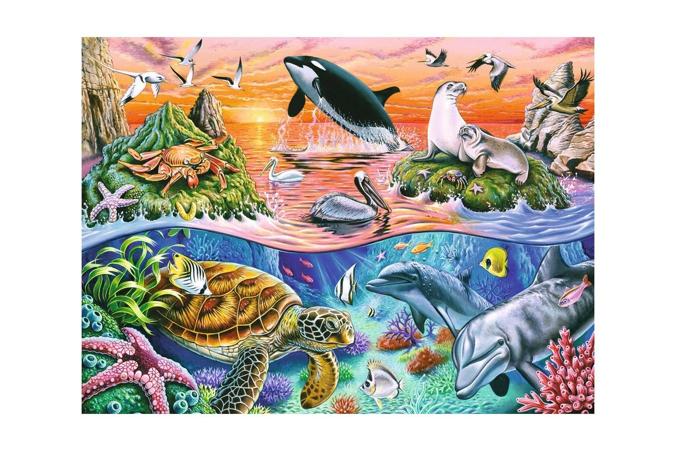 Puzzle Ravensburger - Minunatul Ocean, 100 piese (10681) imagine