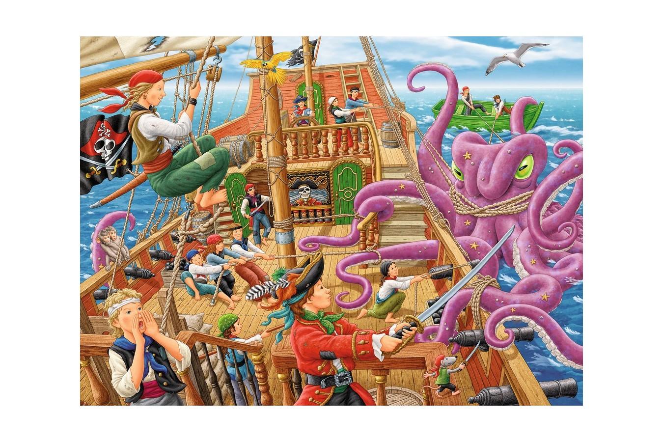 Puzzle Ravensburger - Vasul Piratilor, 100 piese (10939) imagine