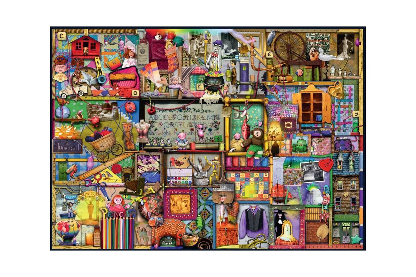 Puzzle Ravensburger - Dulap Jucari, 1.000 piese (19412) imagine