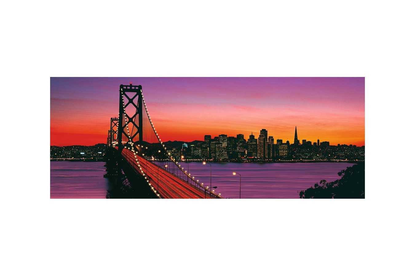 Puzzle panoramic Ravensburger - Podul Oakley Bay, 1.000 piese (15104) imagine
