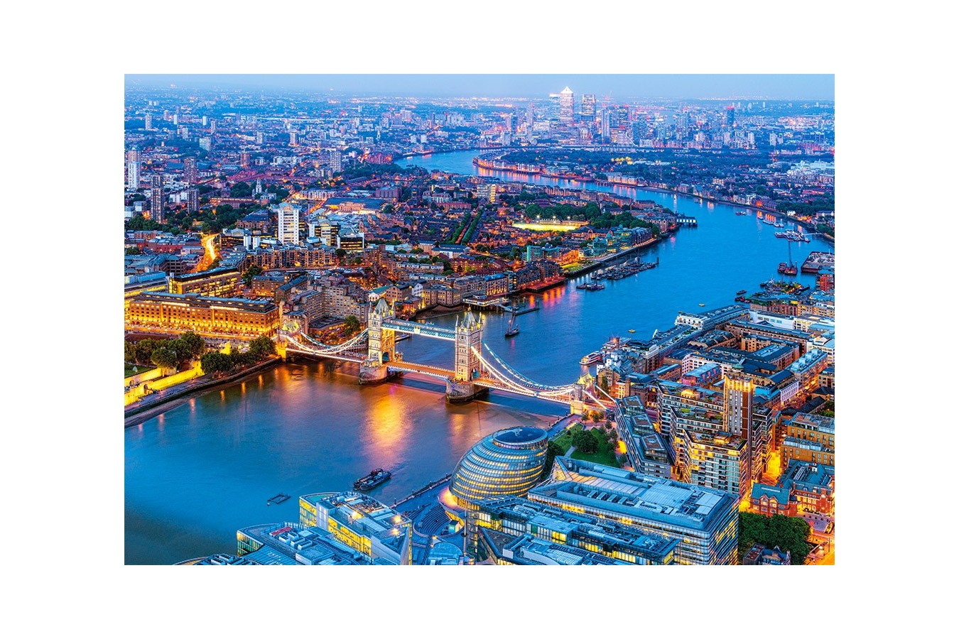 Puzzle Castorland - Aerial View of London, 1.000 piese (104291) imagine