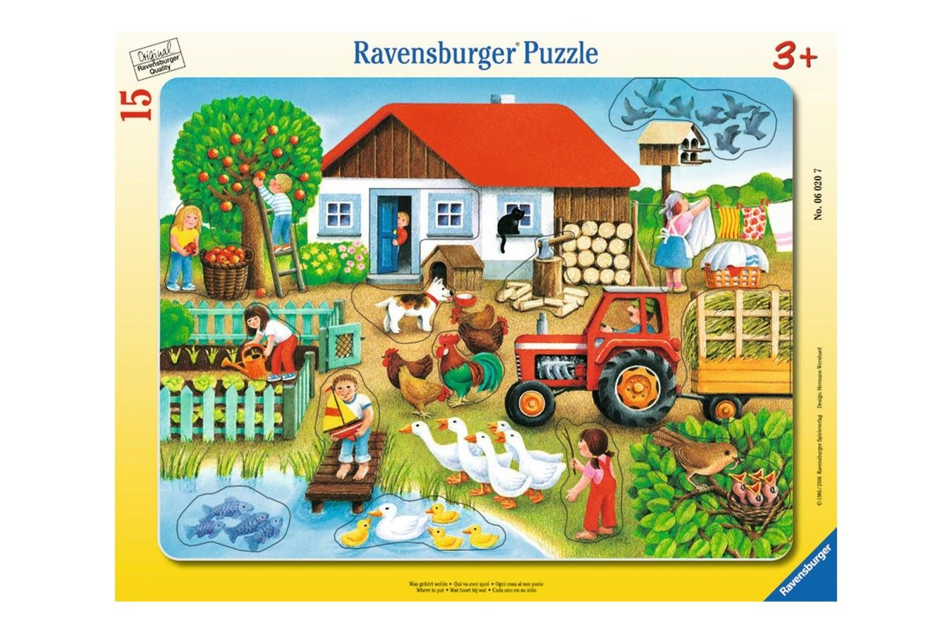 Puzzle Ravensburger - Unde Sa Il Asez, 15 piese (06020) imagine
