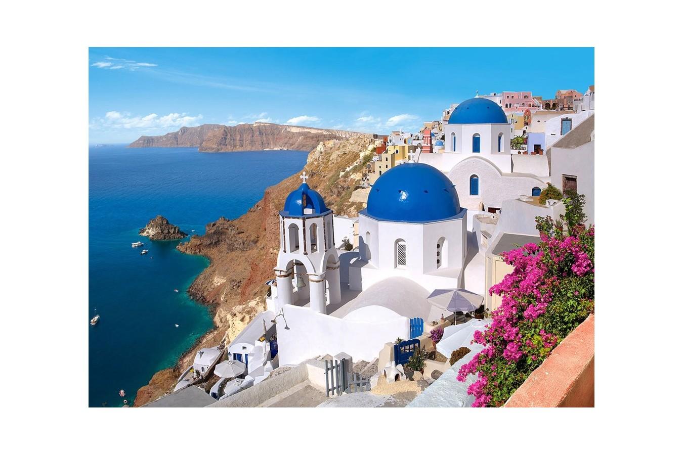 Puzzle Castorland - Santorini Greece, 1500 piese imagine