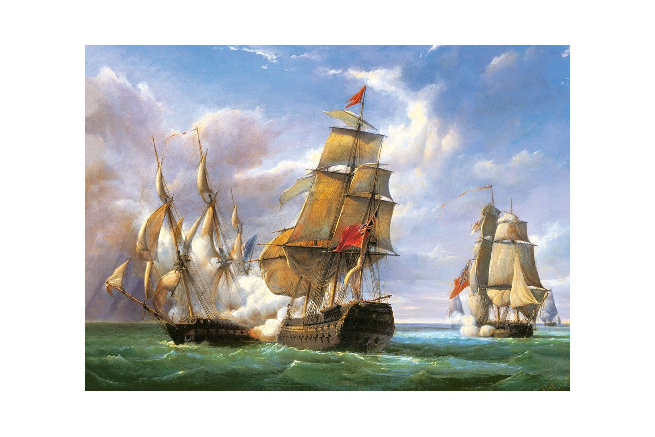 Puzzle Castorland - Copy of Combat between the French and the English Vessels, 3000 piese imagine
