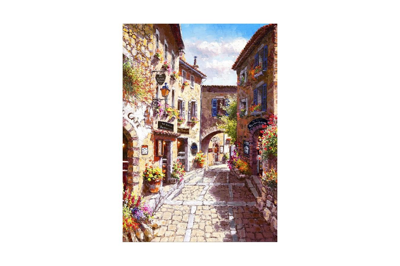 Puzzle Bluebird - Eze Village, 1.000 piese (70056) imagine