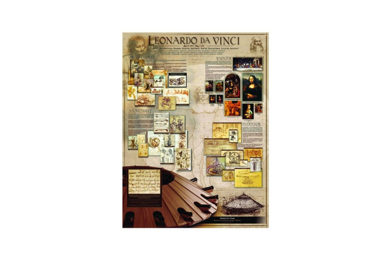 Puzzle Eurographics - Leonardo Da Vinci: Leonardo da Vinci, 1.000 piese (6000-0084) imagine