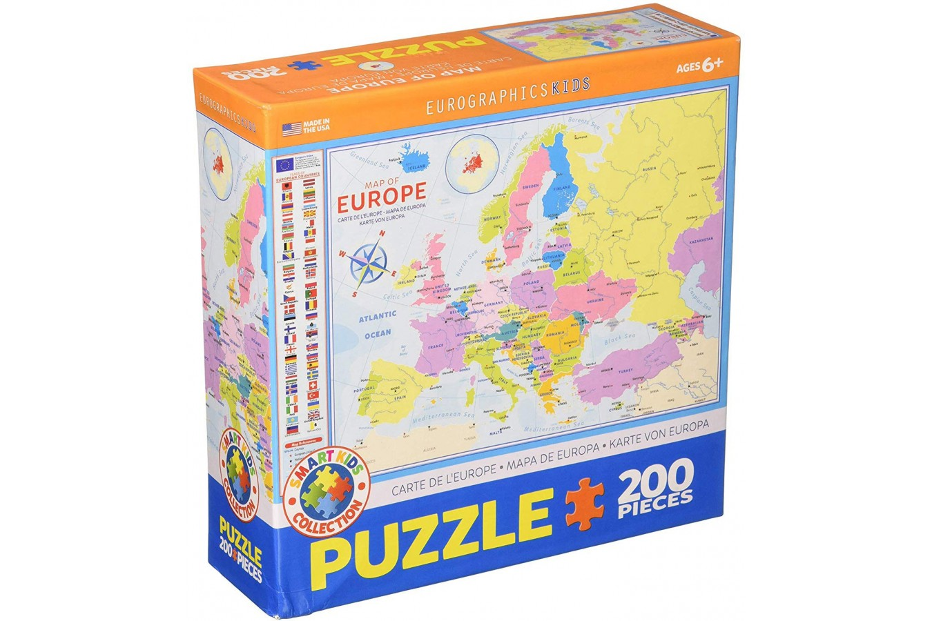 Puzzle Eurographics - Map of Europe, 200 piese (6200-5374) imagine