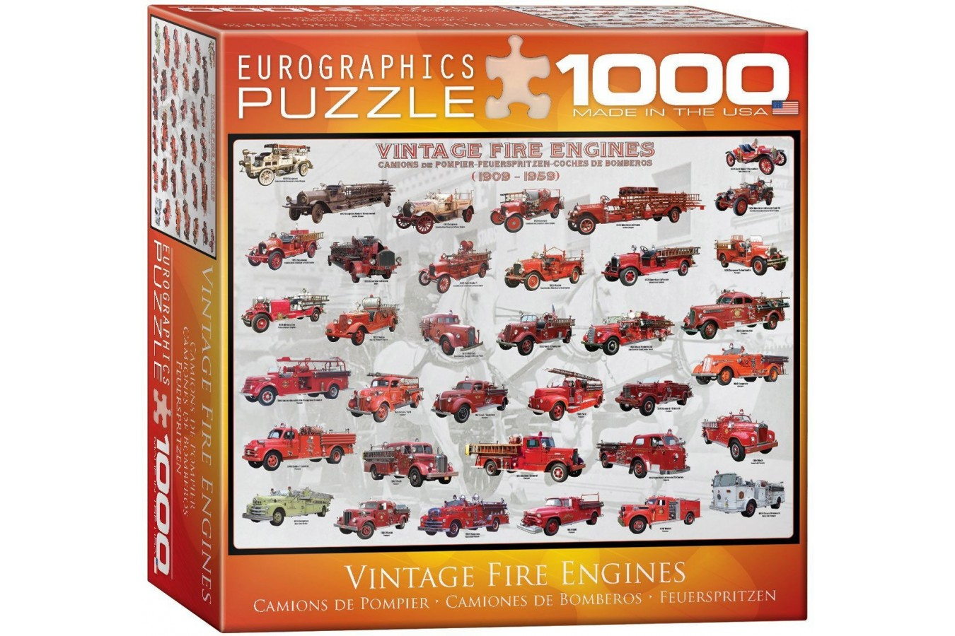 Puzzle Eurographics - Vintage Fire Engines, 1.000 piese (8000-0239) imagine