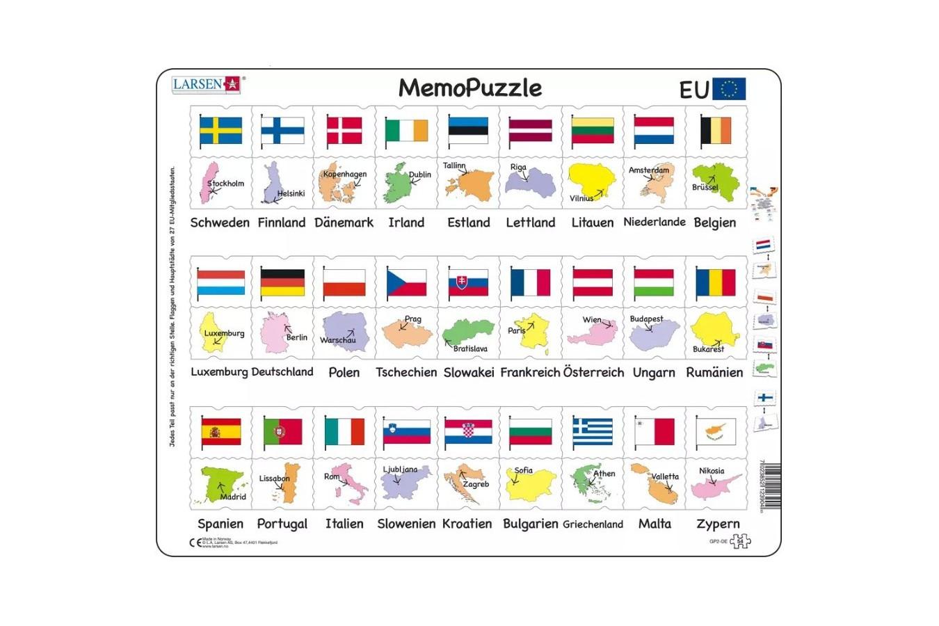 Puzzle Larsen - MemoPuzzle (in German), 54 piese (GP2-DE) imagine