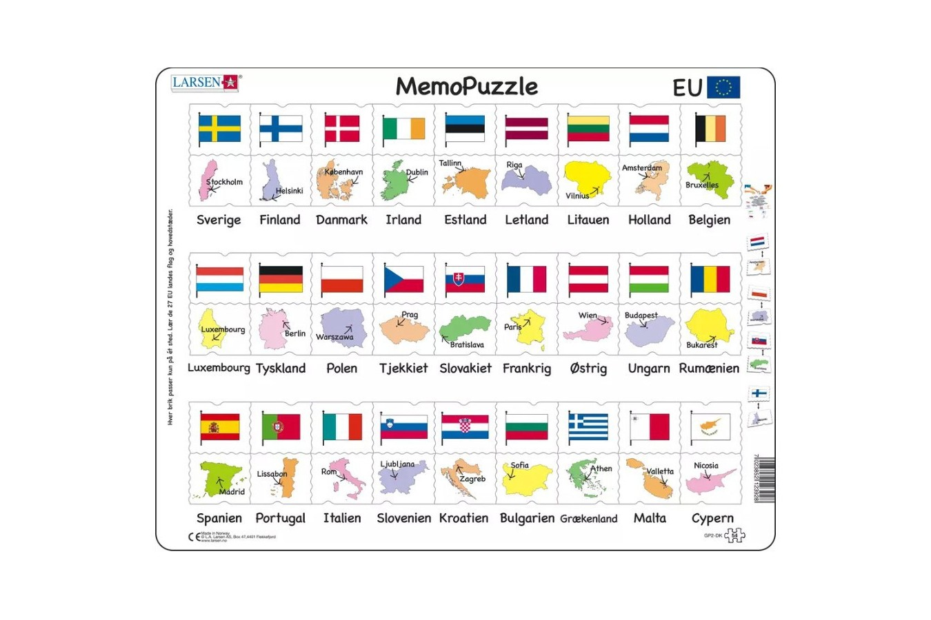 Puzzle Larsen - MemoPuzzle (in Danish), 54 piese (GP2-DK) imagine