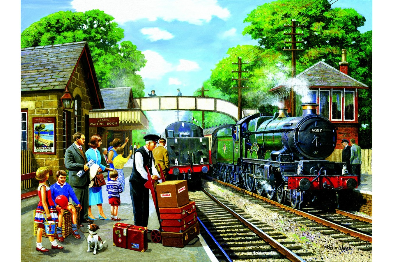 Puzzle Sunsout - Kevin Walsh: The Train to the Coast, 1.000 piese (13730) imagine