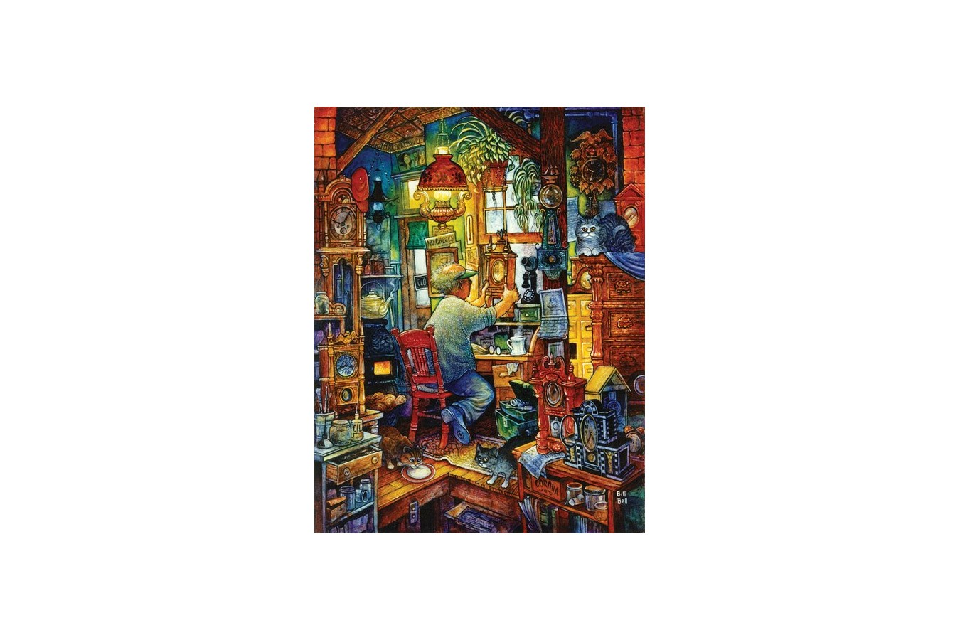Puzzle Sunsout - Bill Bell: The Clockmaker, 1.000 piese (21894) imagine