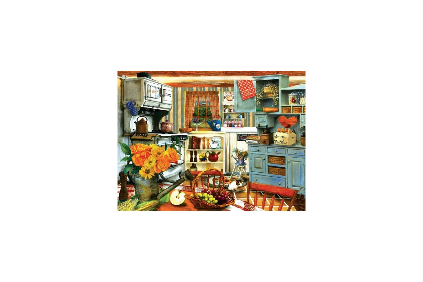 Puzzle Sunsout - Tom Wood: Grandma's Country Kitchen, 1.000 piese (28851) imagine