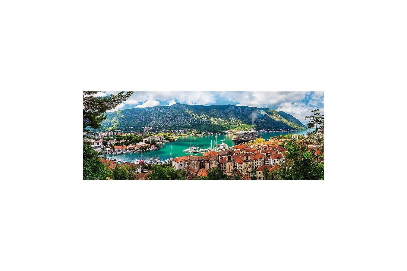Puzzle panoramic Trefl - Kotor, Montenegro, 500 piese (29506) imagine