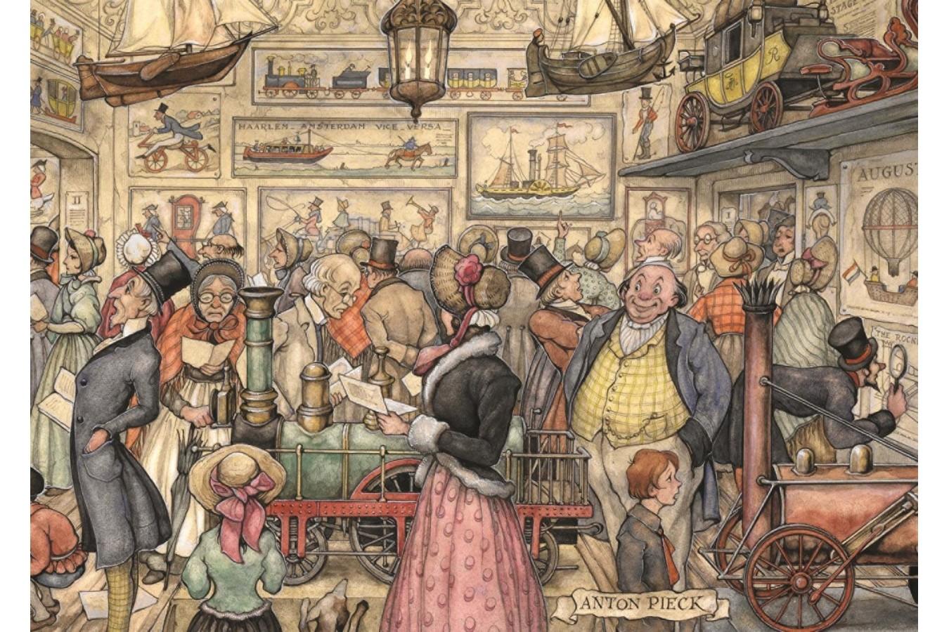 Puzzle Jumbo - Anton Pieck: The Exposition, 1.000 piese (17094) imagine