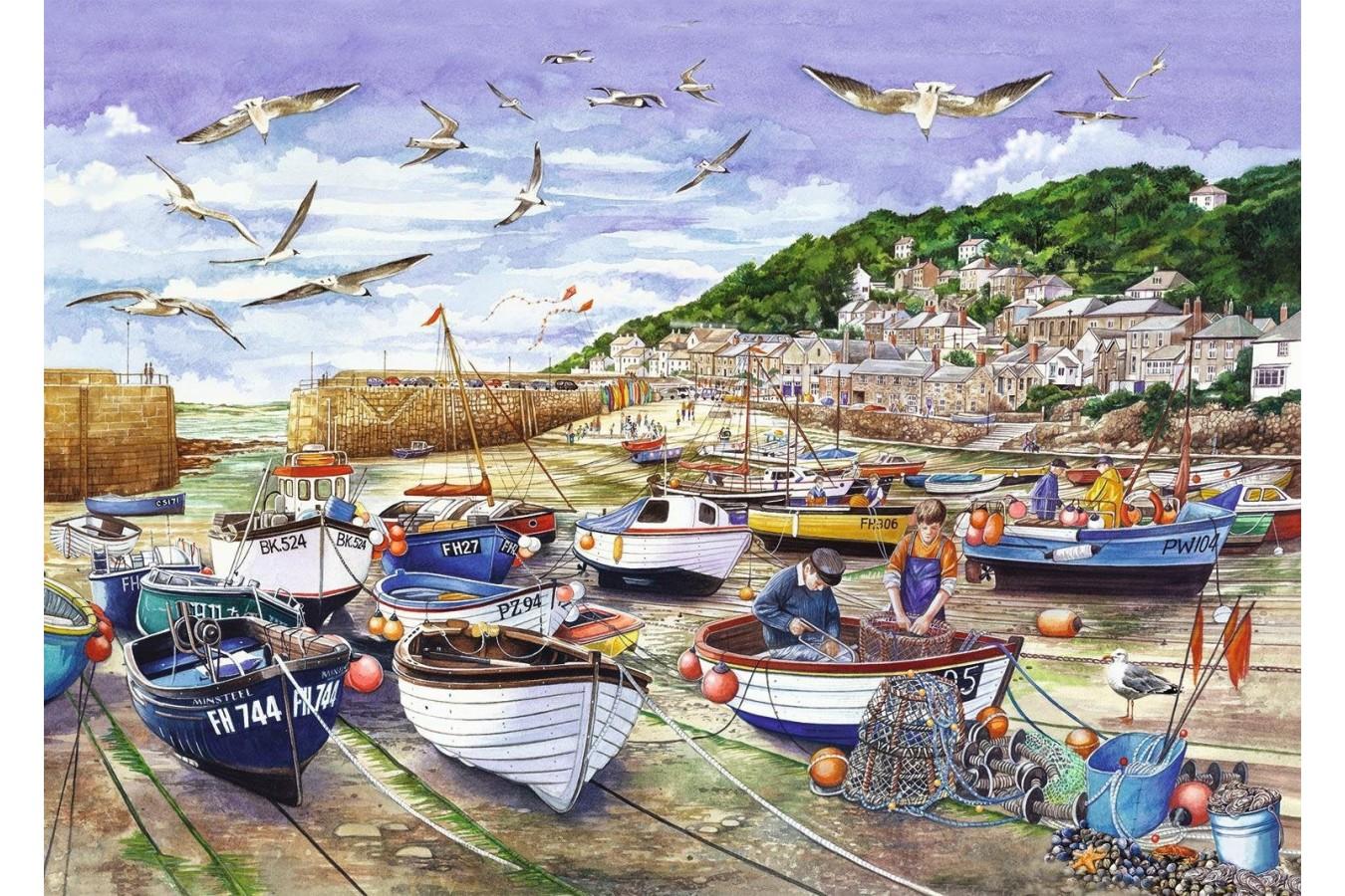 Puzzle Jumbo - Cornwall - Mousehole, 1.000 piese (11186) imagine