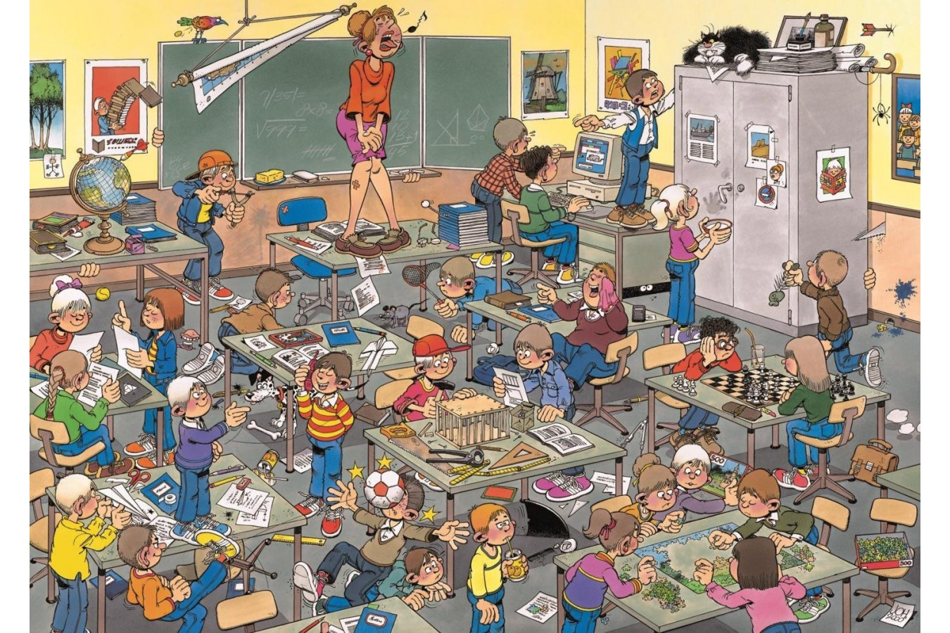 Puzzle Jumbo - Jan Van Haasteren: Catch the mouse!, 500 piese (17280) imagine