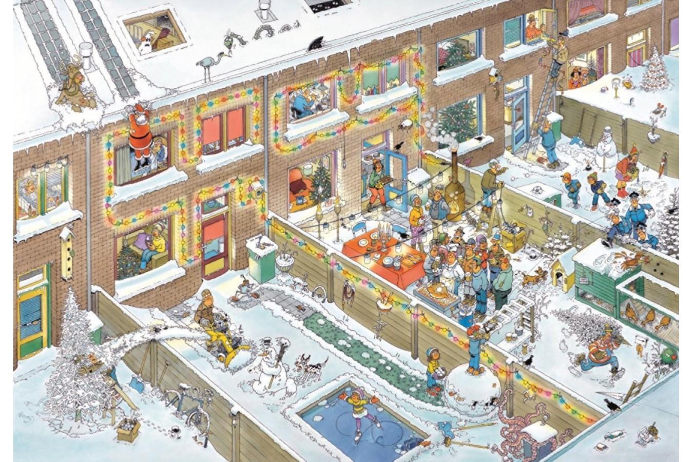 Puzzle Jumbo - Jan Van Haasteren: Christmas Eve, 2.000 piese (19032) imagine
