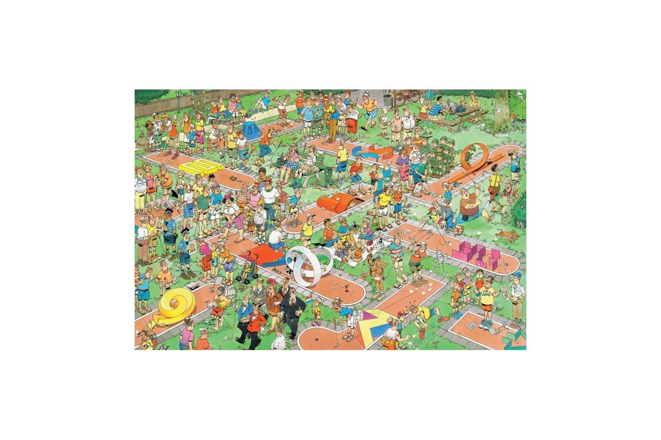 Puzzle Jumbo - Jan Van Haasteren: Crazy Golf, 1500 piese (17216) imagine