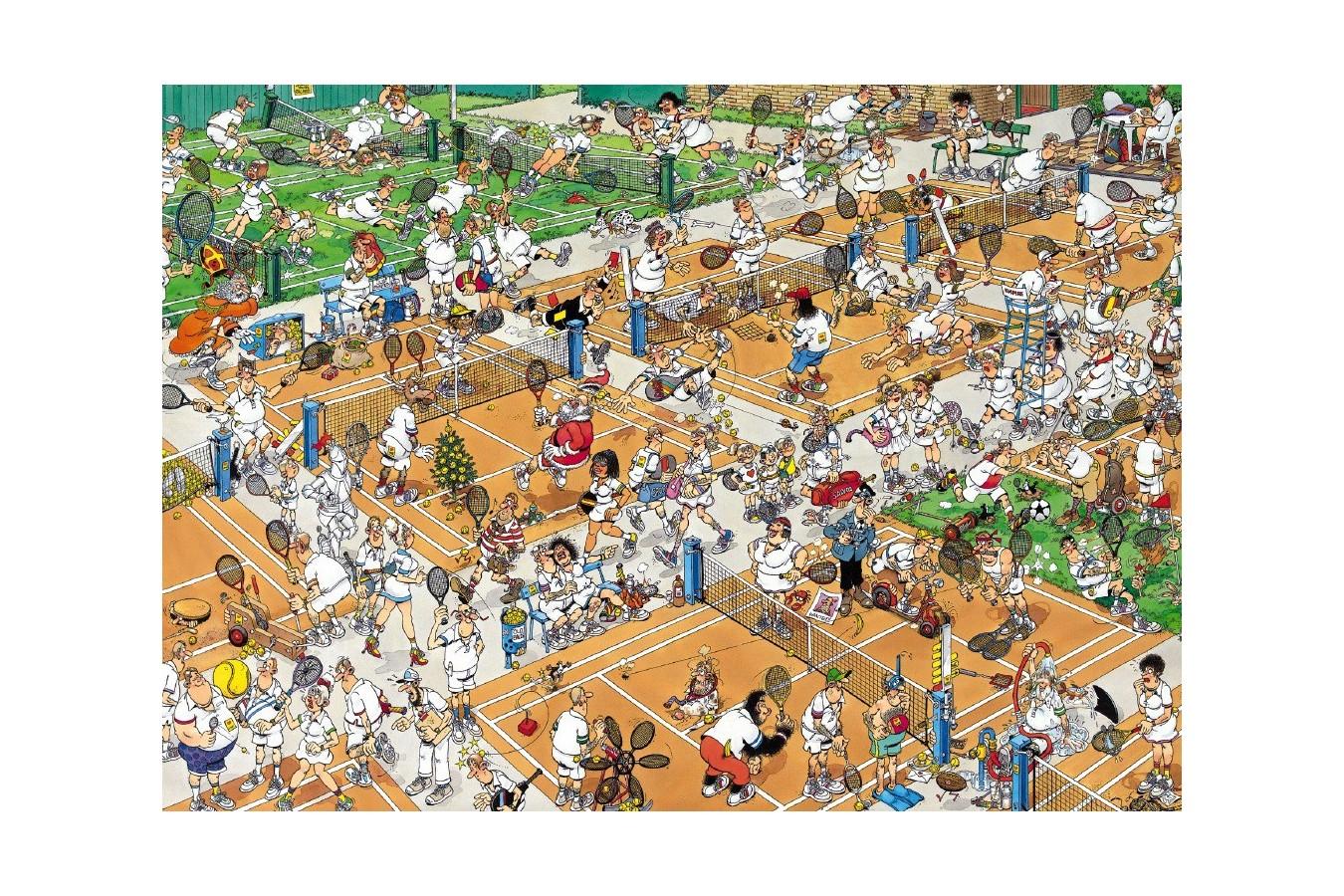 Puzzle Jumbo - Jan Van Haasteren: Tennis Court, 1.000 piese (17076) imagine