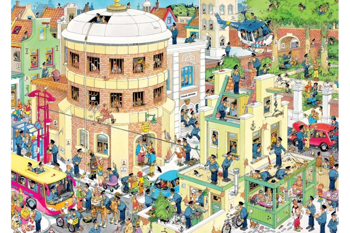 Puzzle Jumbo - Jan Van Haasteren: The Escape, 1.000 piese (19013) imagine