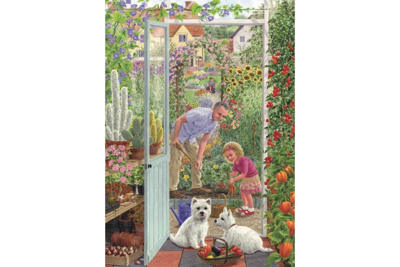 Puzzle Jumbo - Sarah Adams : Through the Greenhouse Door, 500 piese (11115) imagine
