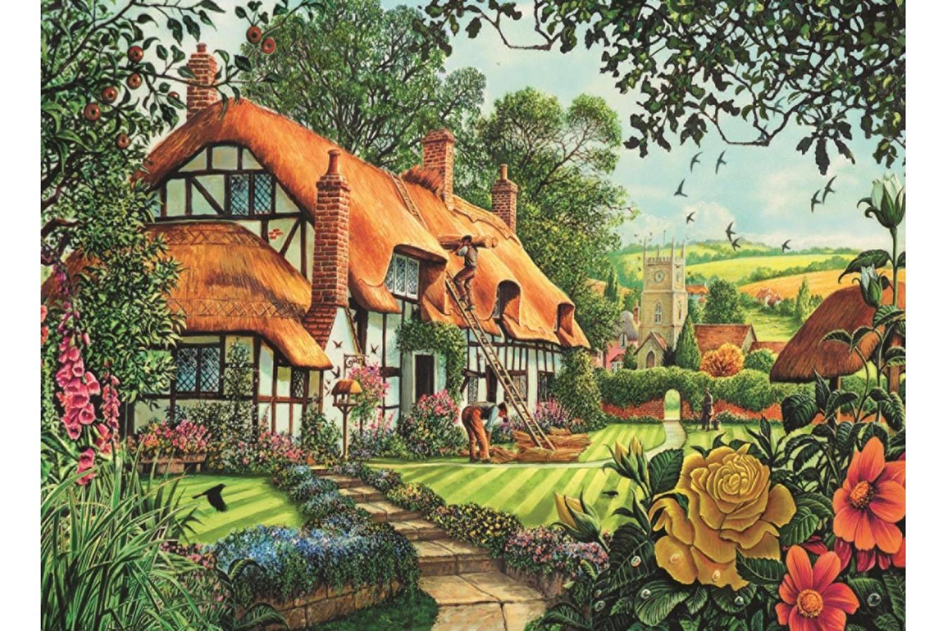 Puzzle Jumbo - Steve Crisp: Thatcher's Cottage, 1500 piese (11113) imagine