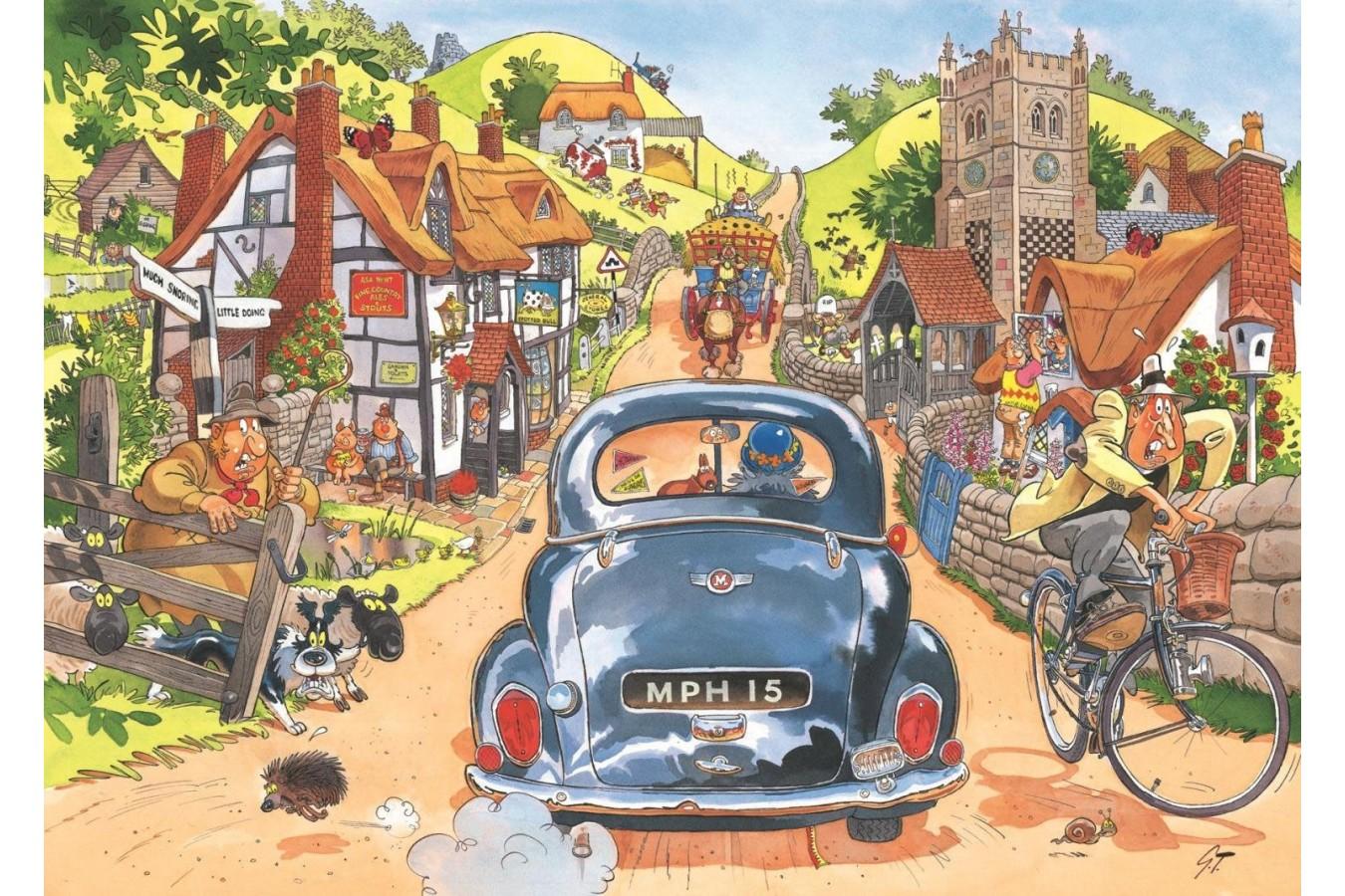 Puzzle Jumbo - Wasgij Retro Original 1 - Sunday Drivers!, 1.000 piese (19146) imagine