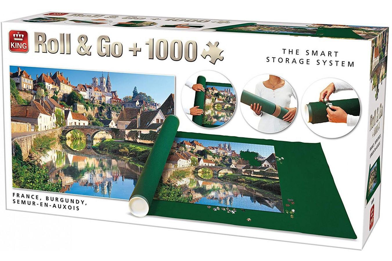 Covor Pentru Puzzle King, 300-1000 Piese + Puzzle Semur-en-Auxois, France, 1.000 piese (05340) imagine