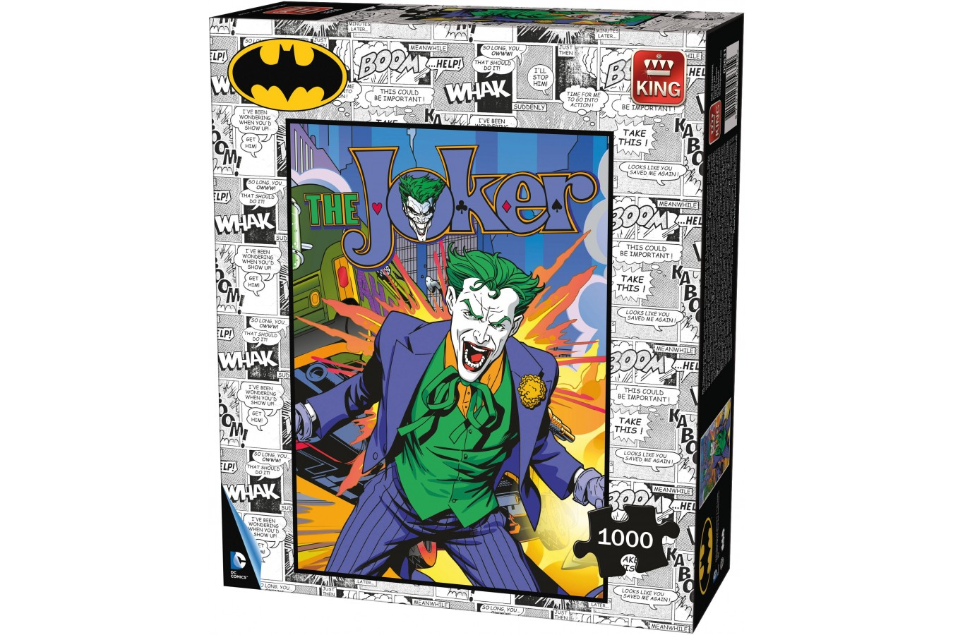Puzzle King - Batman - Joker, 1.000 piese (05631) imagine