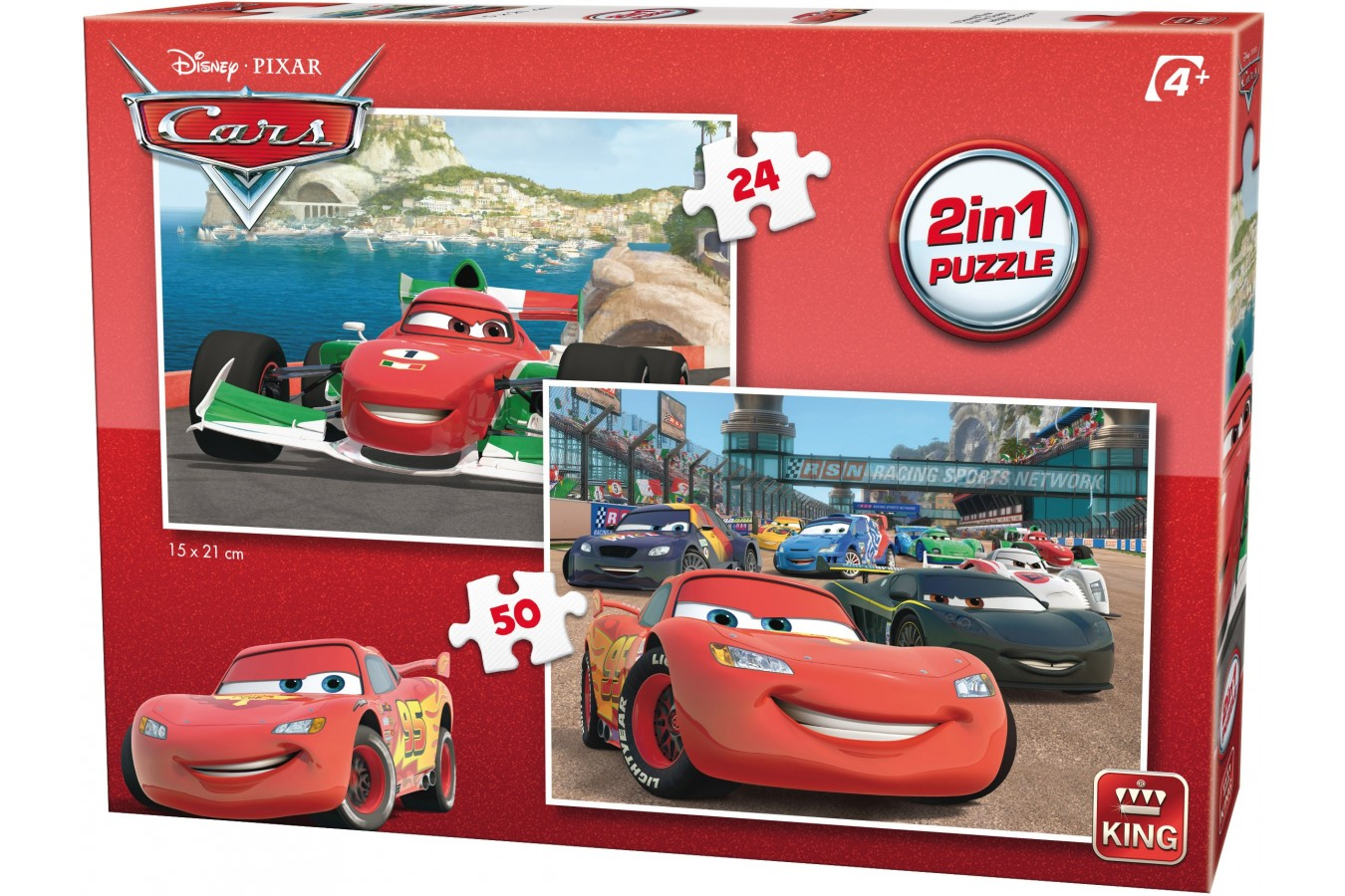Puzzle King - Cars, 24/50 piese (05415) imagine