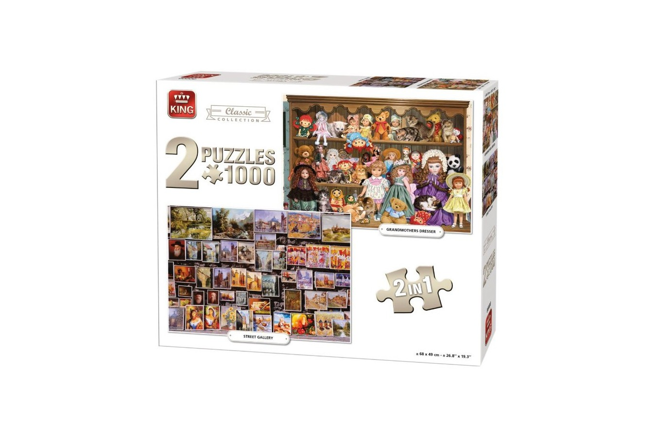 Puzzle King - Classic Collection, 2x1.000 piese (05215) imagine