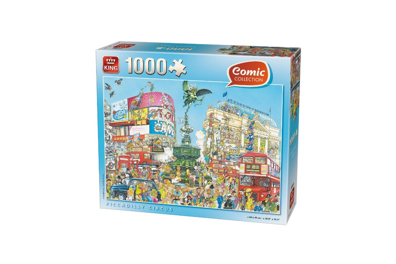 Puzzle King - Comic Collection - Piccadilly Circus, 1.000 piese (05082) imagine