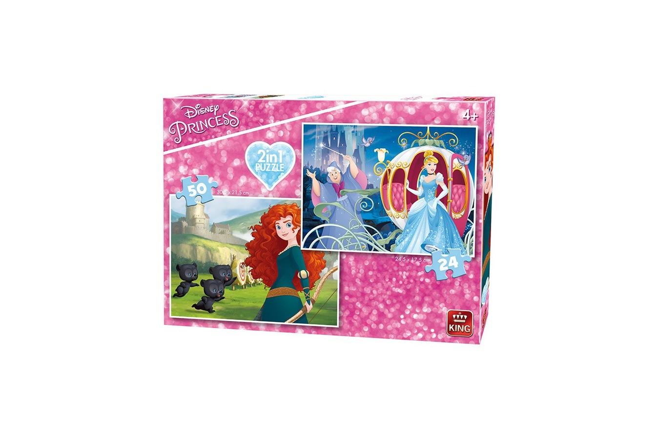 Puzzle King - Disney Princess, 24/50 piese (05416) imagine